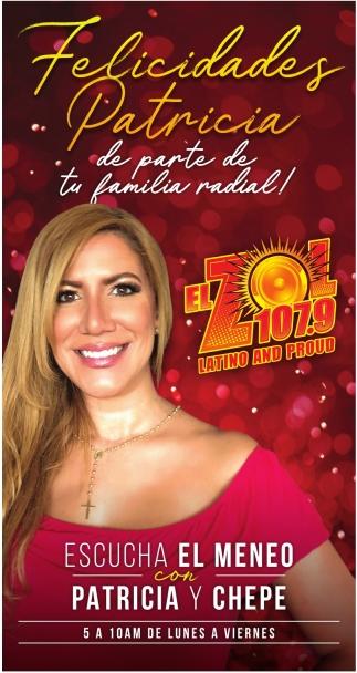 Felicidades Patricia de Parte de tu Familia Radial