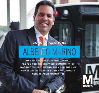Congratulations Alberto Marino