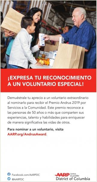 Expresa Tu Reconocimiento a un Voluntario Especial