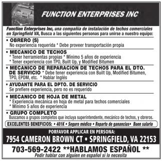 Function Enterprises Inc.