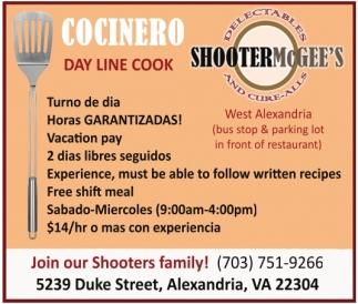 Cocinero Day Line Cook