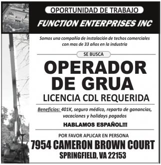 Operador de Grúa