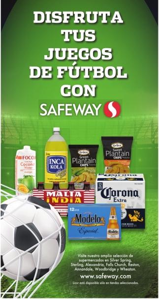 Disfruta tus Juegos de Futbol con Safeway
