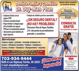 Dentista Familiar y Cosmetica
