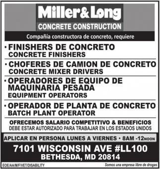 Finishers de Concreto