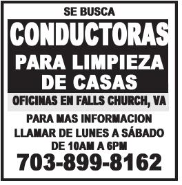 Conductoras para Limpieza de Casas