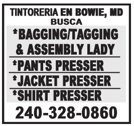 Bagging/Tagging & Assembly Lady