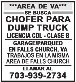 Chofer para Dump Truck