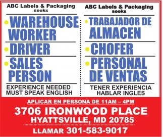 Warehouse Worker Trabajador de Almacen