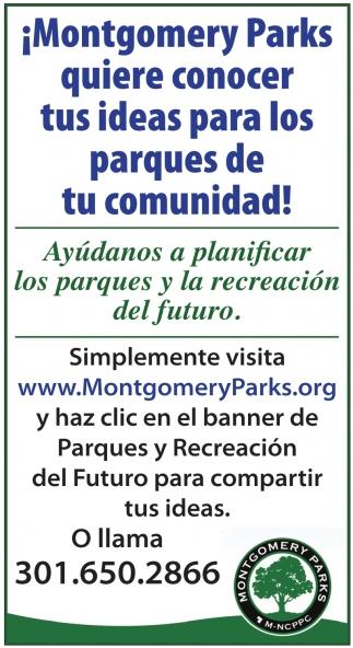 Ayúdanos a Planificar los Parques y la Recreación del Futuro