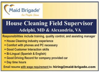 House Cleaning Field Supervisor