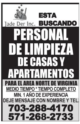 Personal de Limpieza de Casas