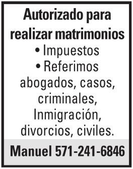 Autorizado para Realizar Matrimonios