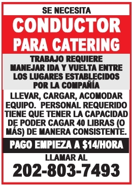 Conductor para Catering