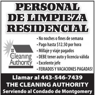 Personas para Limpiar Casas