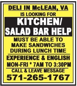Kitchen/Salad Bar Help