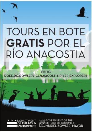 Tours en Bote Gratis por el Rio Anacostia