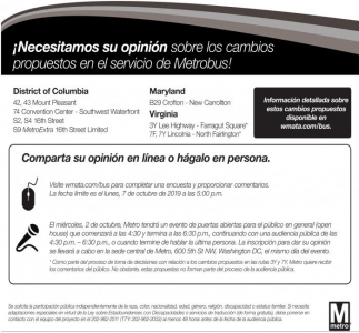 Cambios Propuestos en el Servicio de Metrobus