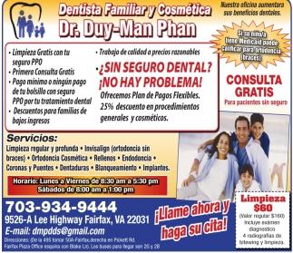 Dentista Familiar y Cosmetica