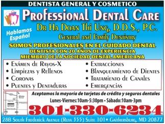 Dentista General y Cosmetico