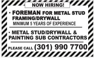 Foreman for Metal Stus¡d