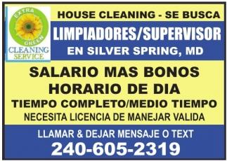 Limpiadores/Supervisor