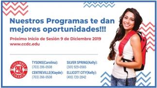 Nuestros Programas te dan Mejores Oportunidades!