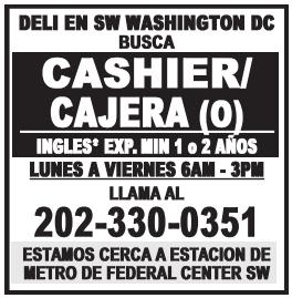 Cashier/ Cajera(o)