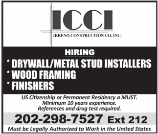 Drywall/Metal Stud Installer