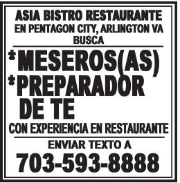 Meseros/Meseras