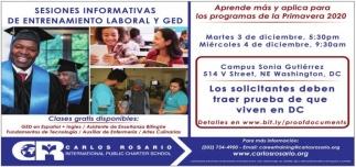 Sesiones Informativas De Entrenamiento Laboral y Ged