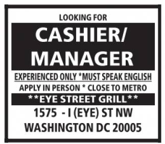 Cashier / Manager