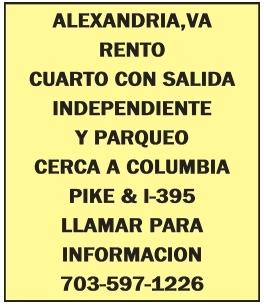 Rento Cuarto con Salida Independiente