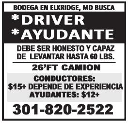 Driver/Ayudante