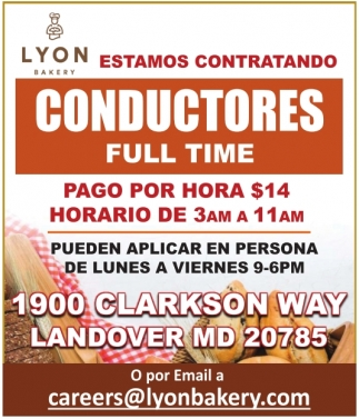 Conductores Full Time