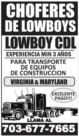 Choferes de Lowboys