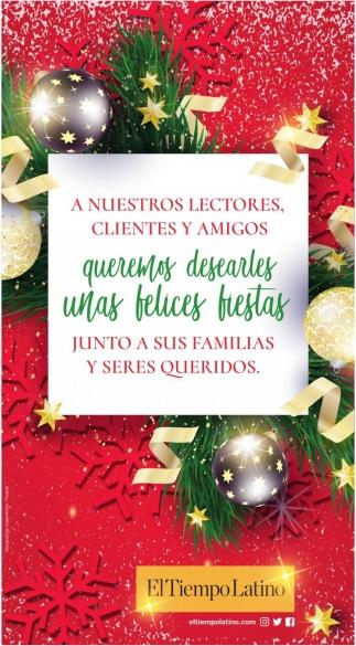 Queremos Desearles Unas Felices Fiestas