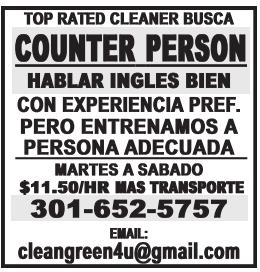 Counter PErson