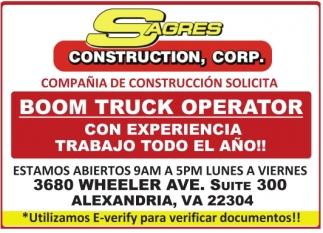 Boom Truck Operator