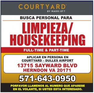 Limpieza/Housekeeping
