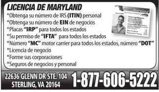 Licencia de Maryland