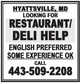 Restaurant/Deli Help