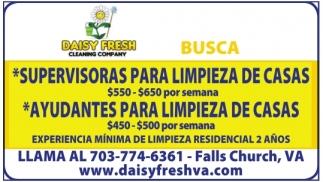 Supervisoras para Limpieza de Casas