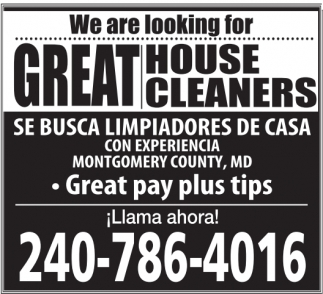 Great House Cleaners