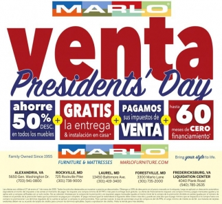 Venta Presidents' Day