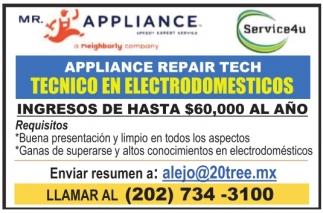 Tecnico en Electrodomesticos