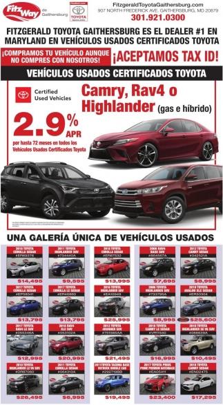Vehiculos Usados Certificados Toyota