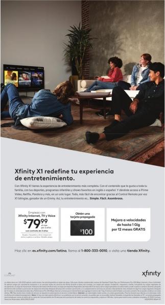 Xfinity X1 Redefine tu Experiencia
