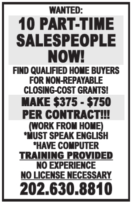 10 Part-Time Salespeople