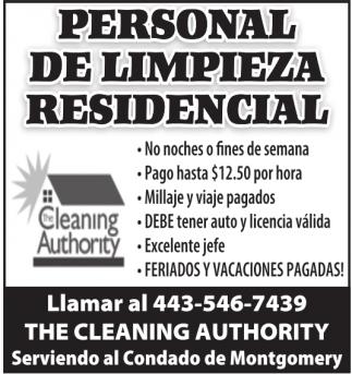 Personal de Limpieza Residencial
